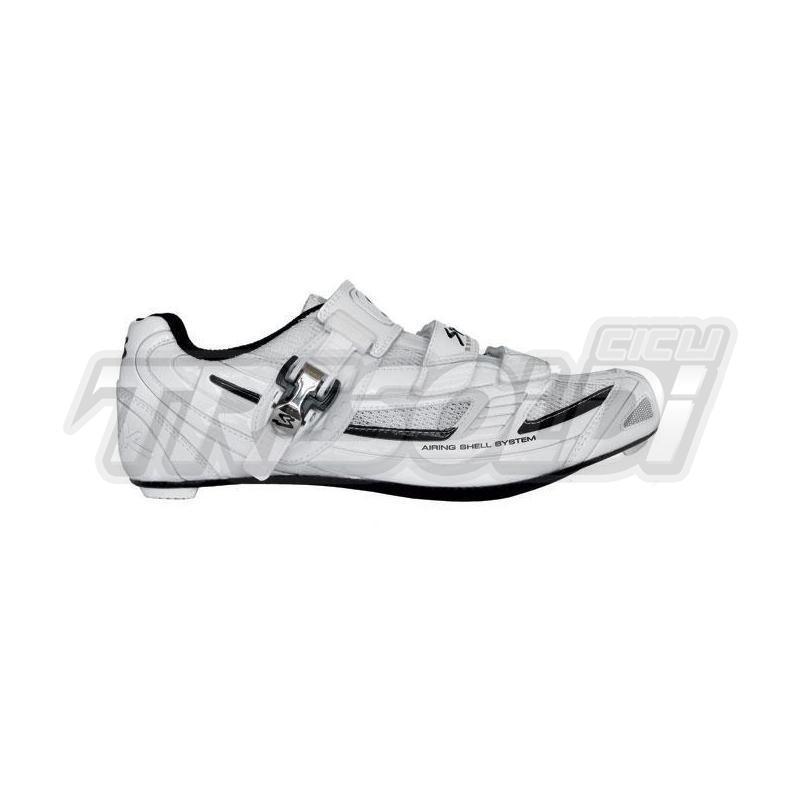 Scarpe Corsa Spiuk Zs11sl Cricchetto Suola Carbon Bianco/nero