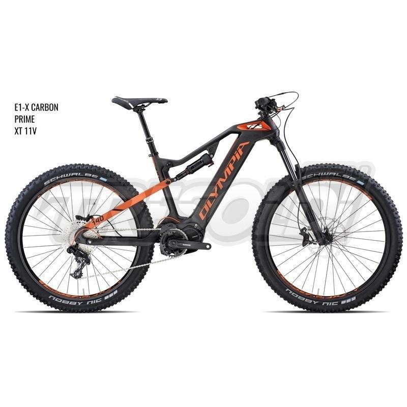 Olympia E-bike Full E1-x Carbon 8.0 Prime 27.5 + Xt 11v
