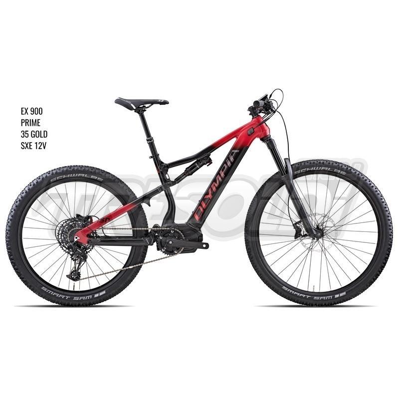 Olympia E-bike Mtb Full Ex 900  29/ 27.5 Prime Sxe 12v Nero/rosso