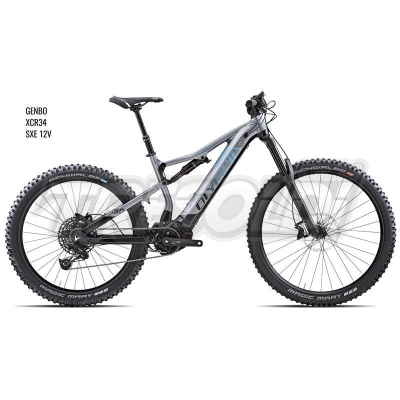 Olympia E-bike Full Genbo  29/27.5+ SXE 12v silver/nero