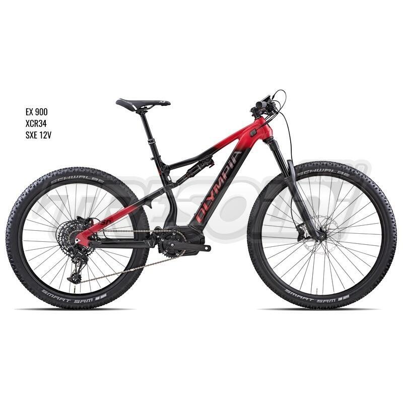 Olympia E-bike Mtb Full Ex 900  29/ 27.5 Sxe 12v Nero/rosso