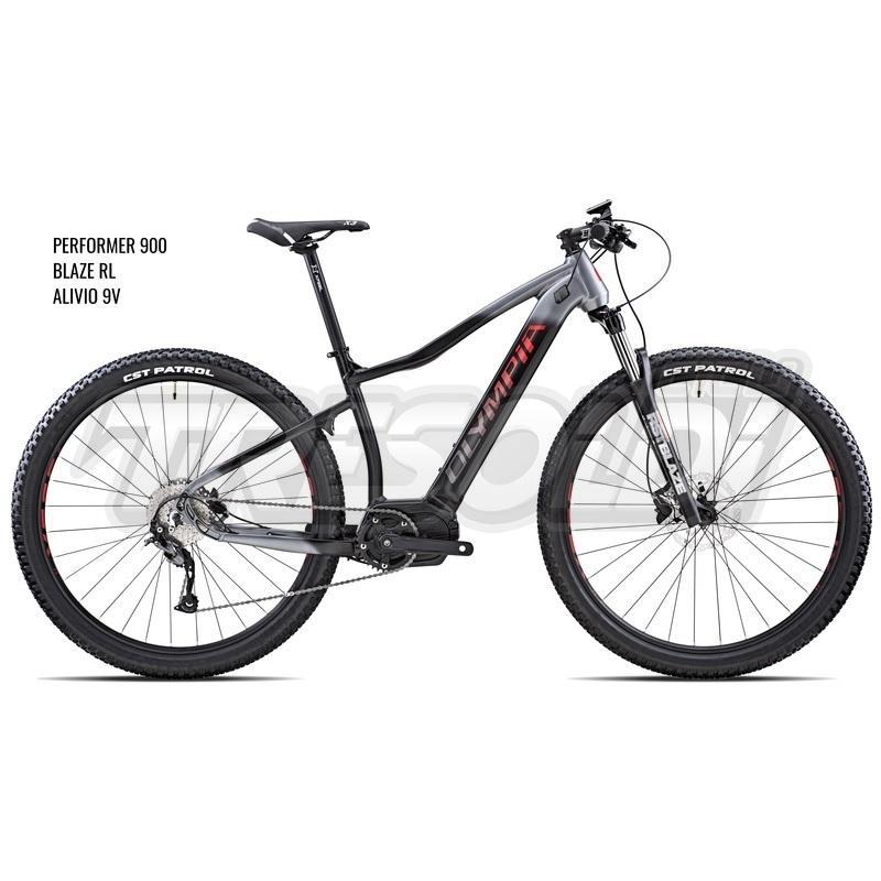 Olympia E-bike Mtb Performer 900 Alivio Blaze rl Silver Nero