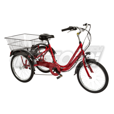"""TRS TRICICLO 24\"""" - ALL. 6V - ROSSO"""